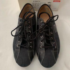 """Coach """"Suee"""" Sz. 8.5 Black/Black Signature Shoes"""